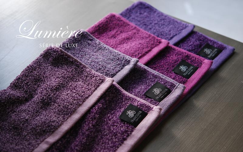 フランジュールのオリジナル高級タオル、ルミエールタオル。上質なスーピマ綿