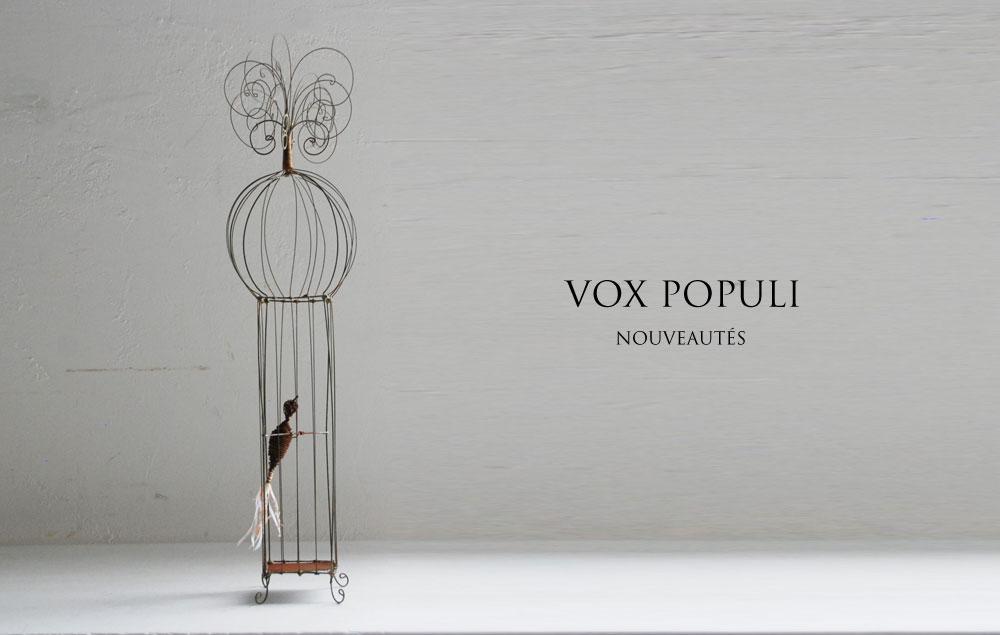 フランジュールのインポートアイテム、VOX POPULI。