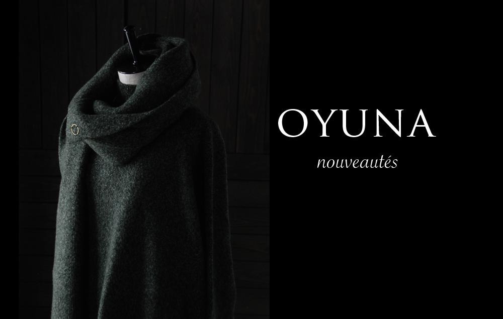 オユーナ(OYUNA)のコレクション。上質なカシミアウェアが入荷しております。イギリスブランド。