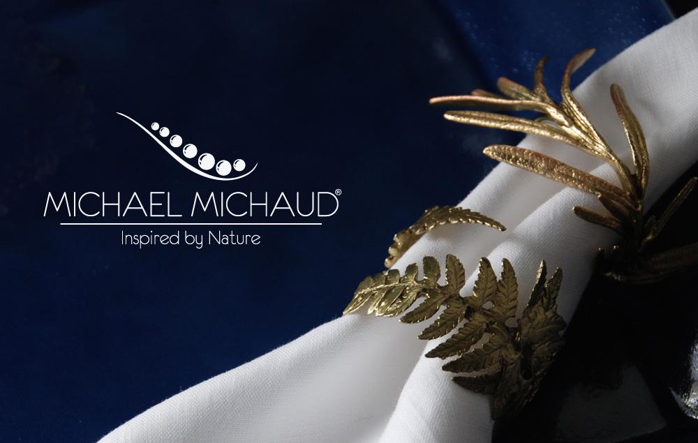 Michael Michaud(マイケルミショー)のテーブルアート。自然をモチーフにしたテーブルウェア
